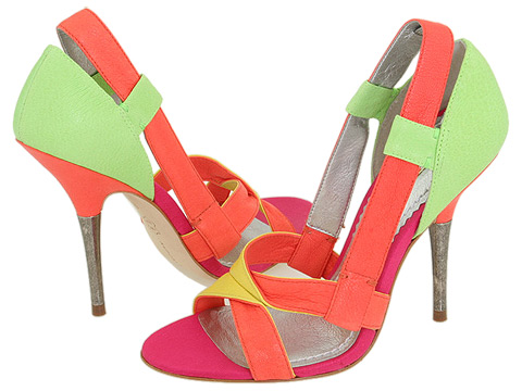 Green orange prom shoes 2010
