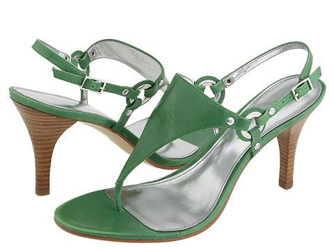 Green prom sandals 2010