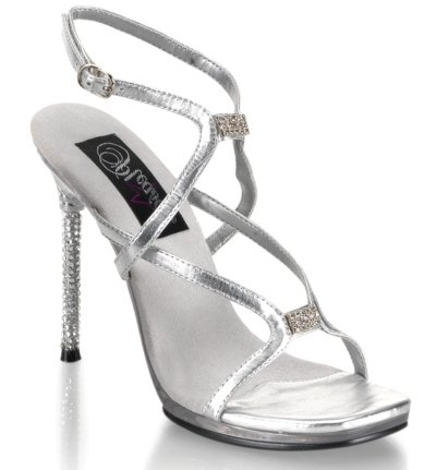 Rhinestone silver prom shoes 2009