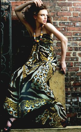 Long animal printed extreme prom dresses 2009 for prom night