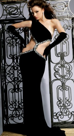Long Black Evening Dress on Exotic Prom Dresses  Xtreme Prom Dresses 2009   Prom Night Styles
