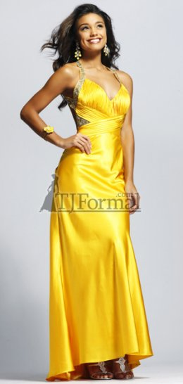 Sweet yellow prom gown for prom night 2009