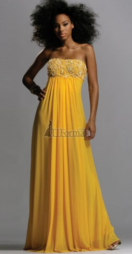 Long comfortable strapless prom dress for prom night 2009