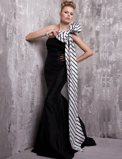 black-and-white-evening-dresses