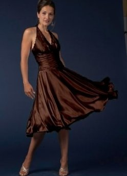 cheap prom dress 2010 brown prom dress