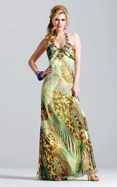 faviana prom dresses 2010 - animal printed prom dress