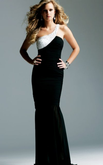faviana prom dresses 2010 - long black prom dress