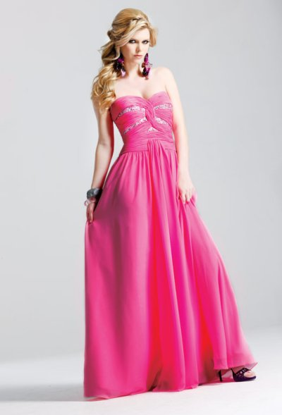 Faviana Prom Dresses 2010 -Long strapless pink prom dress