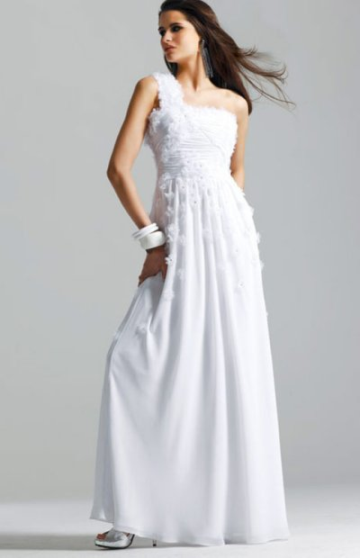 faviana prom dresses 2010 - white one shoulder