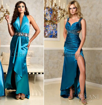 Blue prom dresses 2010 by Terani