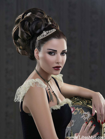 Elegant prom updo 2010 with big wave curls