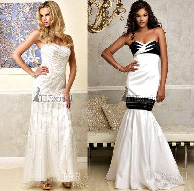 Long white prom dresses 2010 by terani