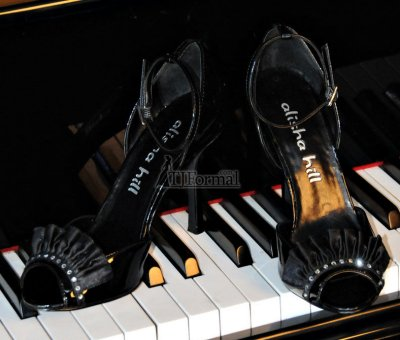 Alisha Hill Salma Shoe - black prom shoes 2010