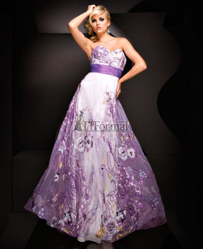 lilac long prom dress by tony bowls