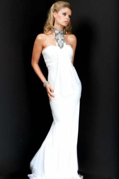 jovani white prom dress 2010