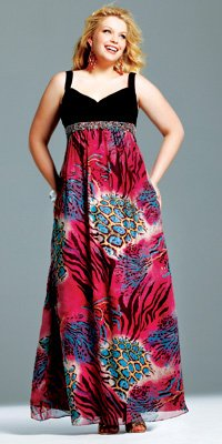 plus size faviana prom dress 2010
