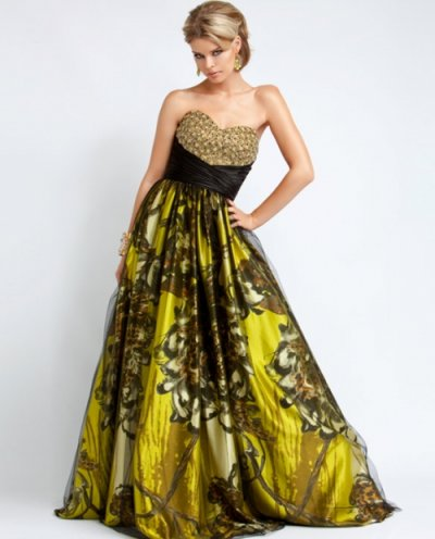 yellow prom gown 2010
