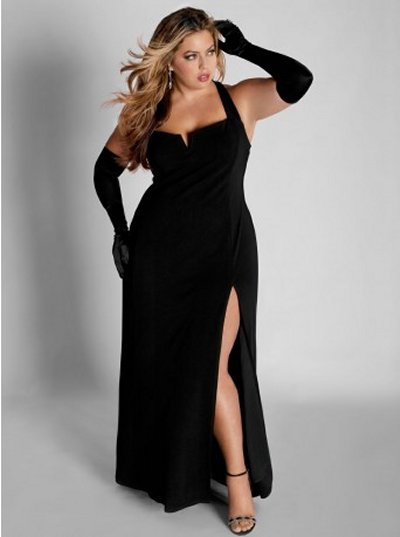 Black plus size special occasion dress