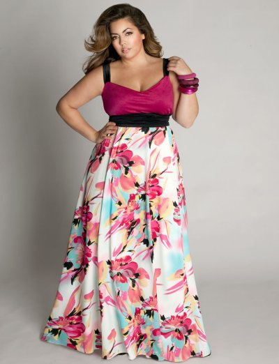 Colorful plus size prom dress 2010