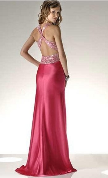 cute sequin prom dress 2010 back