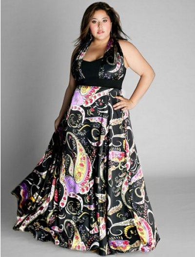 Long dark plus size prom dress 2010