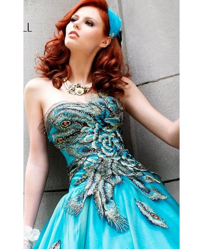 blue ball gown sheri hill 2010 - bodice