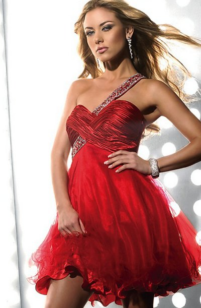 hot red prom dress