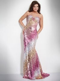 sequined jovani prom dress 2011