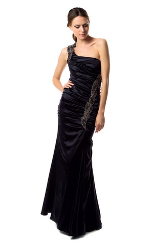 black Carlos Miele prom dress 2011