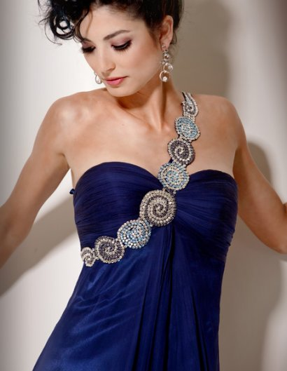 blue jovani prom dress 2011 front