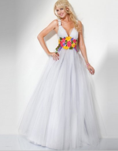 cute white prom ball gown 2011