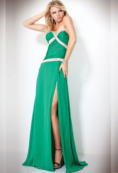 Long Green Prom Dress 2011 By Jovani - Prom Night Styles