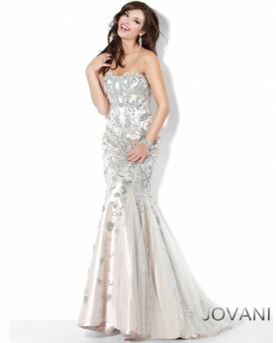 Silver Dress on Mermaid Prom Dresses 2012     Sexy Strapless Silver Mermaid Prom Dress