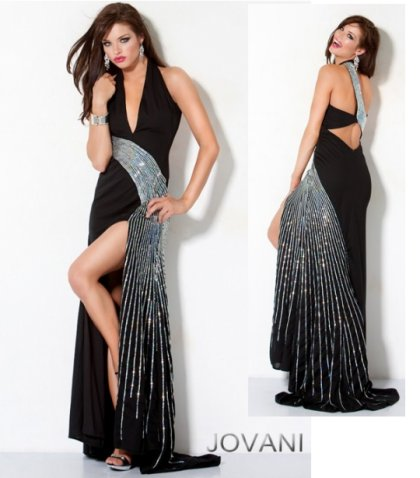 Black Evening Dress on Best Jovani Prom Dresses 2012     Simple Yet Sexy Black Prom Dress