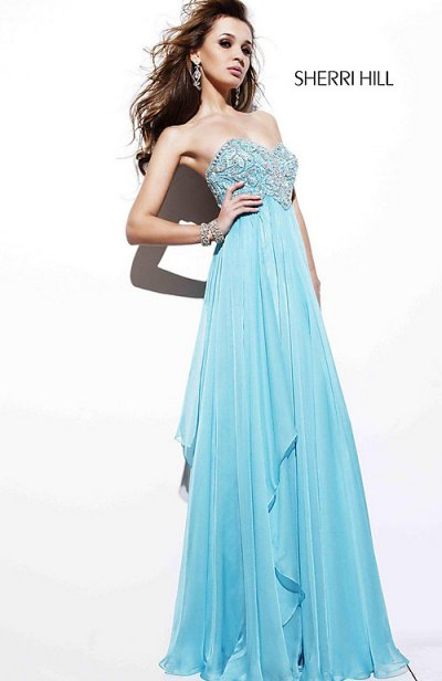 Light Blue Prom Dresses 2012