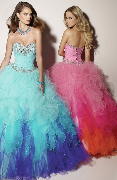 Pink Blue Prom Dresses  Prom Night Styles