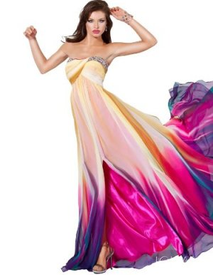 2012 Jovani Print Prom Dresses Long