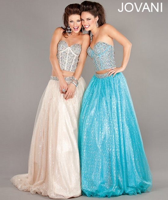 Fresh & Trendy: Jovani Two-Piece Prom Dresses 2013 | Prom Night Styles