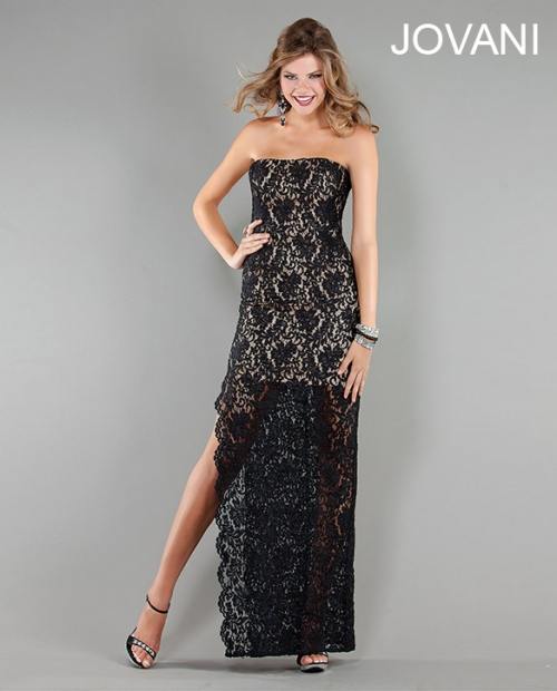 sexy black lace prom dress 2013 by jovani