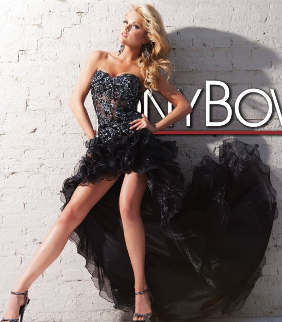 sexy high low black prom dress 2013