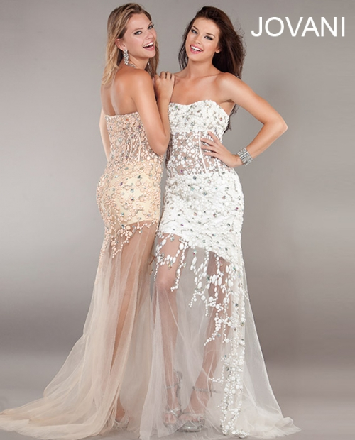 Super sexy white and nude lace prom dresses 2013 with sweetheart ...