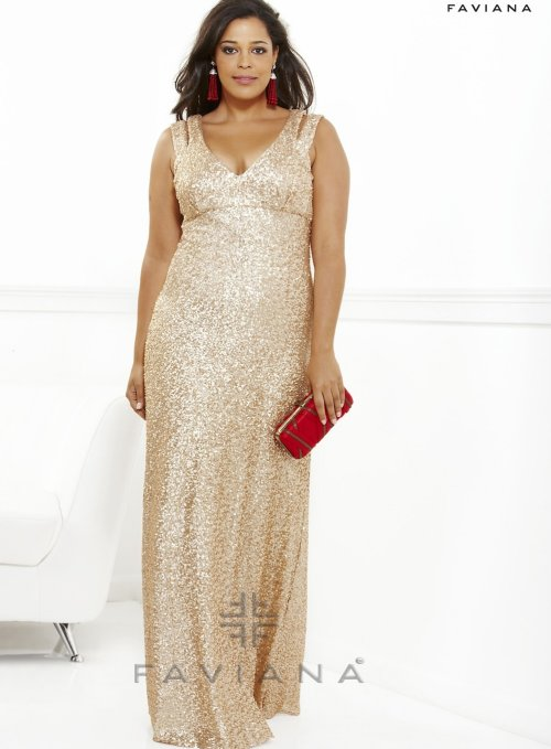9300 gold sequin plus size prom dress 2013