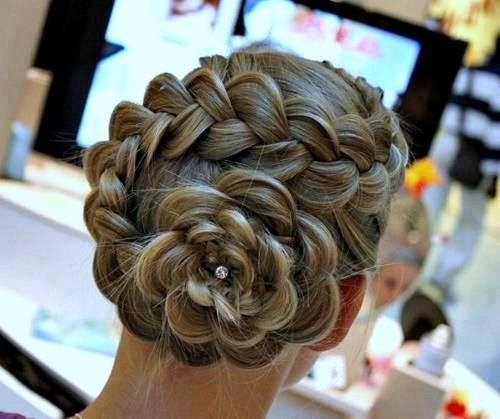 dutch flower braid prom updo 2014---