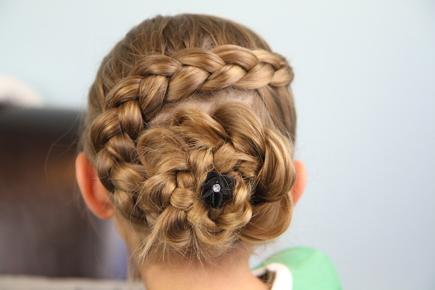 dutch flower braid prom updo 2014