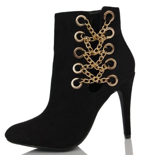 sexy black high heel ankle boots for prom