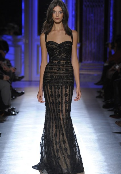Zuhair Murad Haute Couture black prom dress 2014