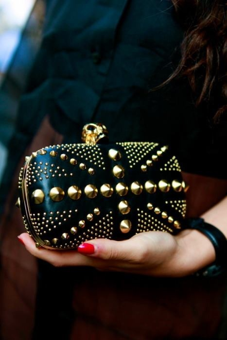 black studded prom clutch bag 2014