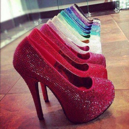 colorful sparkling prom shoes 2014