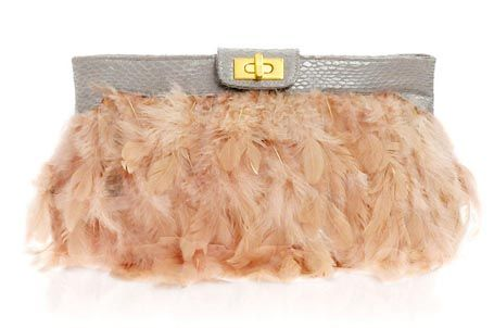 feather clutch prom bag 2014