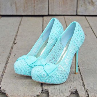 high blue lace prom shoes 2014